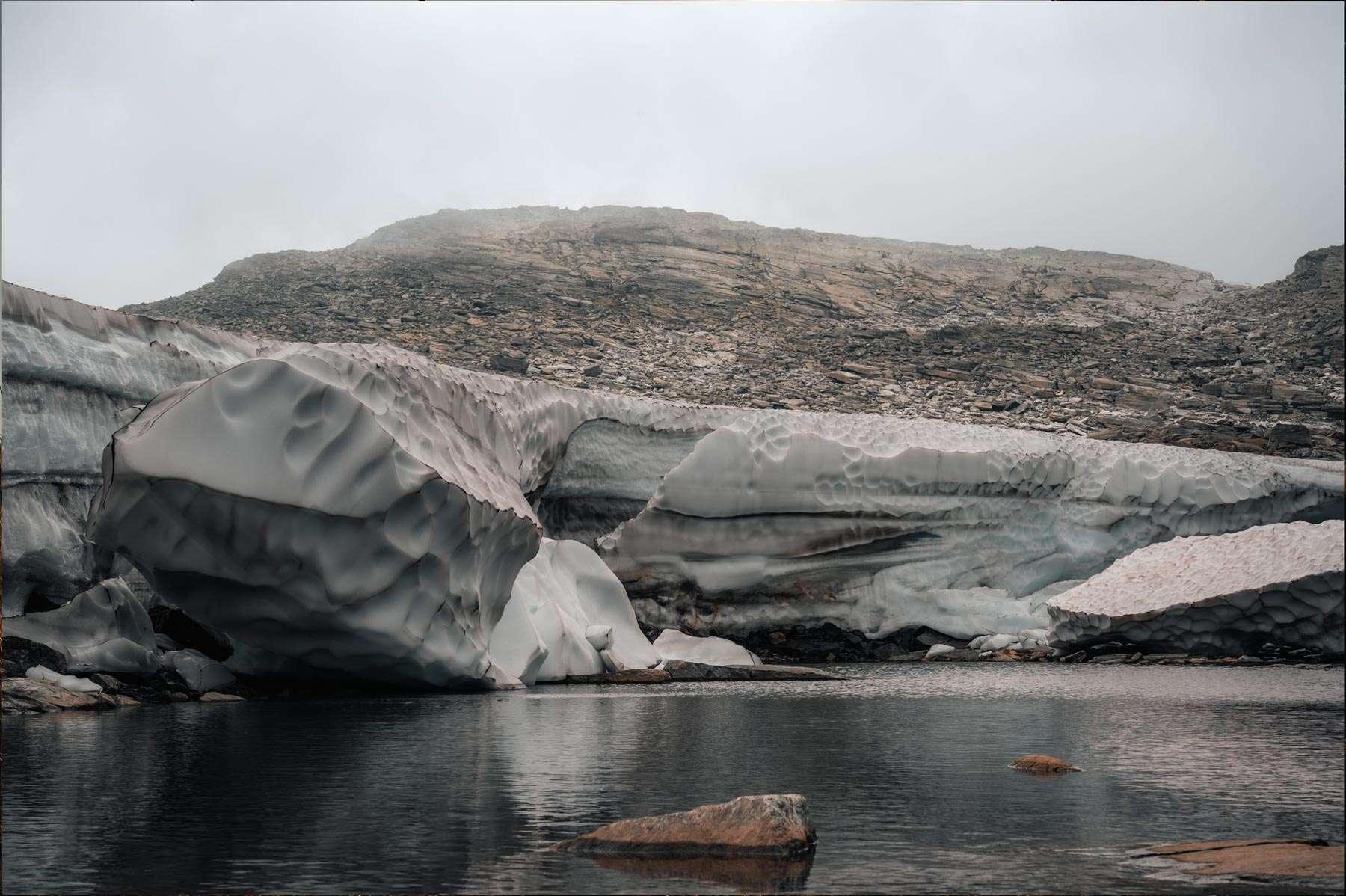 Gletscher von der Seite